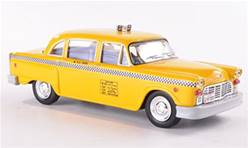 CHECKER TAXI NUEVA YORK 1980 AMARILLO