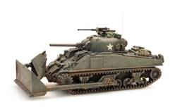 "SHERMAN M4 ""DOZER"" USA/UK - MONTADO Y PINTADO"