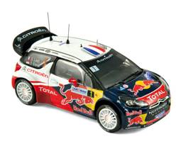 CITROEN DS3 WRC WORLD CHAMPION RALLYE DE FRANCE 2012 LOEBE/ELENA