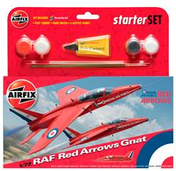 RAF RED ARROWS GNAT (INCLUYE PINTURA, PINCELES Y PEGAMENTO)