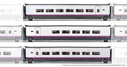 RENFE EUROMED  3 COCHES S-101 PANTONE