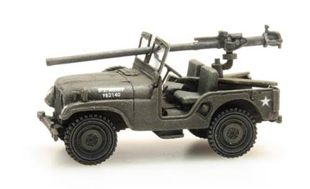 US M38 JEEP+106 mm - MONTADO Y PINTADO