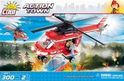 FIRE HELICOPTER. ACTION TOWN