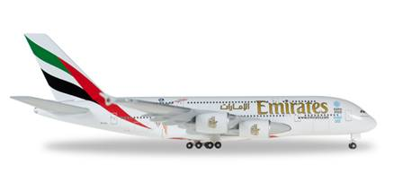 AIRBUS A380-800 EMIRATES CRICKET A6-EEK (14,5 cm)