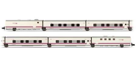 "RENFE SET DE 6 COCHES TALGO CAMAS ""TRAIN & BREAKFAST"" BLANCO-GRIS"