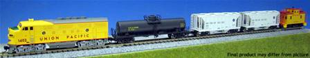 USA LOCOMOTORA DIESEL EMD F7 UNION PACIFIC+4 VAGONES DE MERCANCIAS