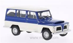 WILLYS RURAL 1968 AZUL-CREMA