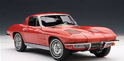 CHEVROLET CORVETTE COUPE 1963 ROJO