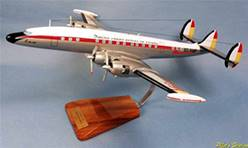 LOCKHEED L.1049 SUPER CONSTELLATION IBERIA (50 x 53 cm)   EN MADERA