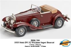 STUTZ DV-32 WEYMAN SUPER BEARCAT ROADSTER 1933 MARRÓN