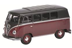 VW T1 BUS GRANATE Y NEGRA