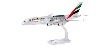 AIRBUS A380 EMIRATES REAL MADRID (29,1 cm)- SEMIMONTADO ESCALA 1/250