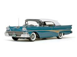 FORD FAIRLANE 500 CLOSED CONVERTIBLE 1958 AZUL / BLANCO