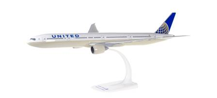 BOEING 777-300ER UNITED AIRLINES SEMIMONTADO ESCALA 1/200