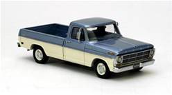 FORD F100 PICK UP AZUL MET/CREMA (RESINA)